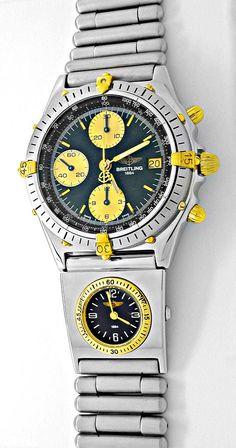 Foto 2, Hr-Breitling-Chronomat St/G UTC St-Band Shop! Portofrei, U1864