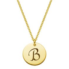 The 18K Yellow Gold Initial Pendant. Love this! #PinToWin