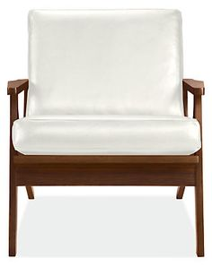Sanna Chair in Urbino Leather - Accent Chairs - Modern Living Room Furniture - Room & Board Living Room Furniture Layout, Living Room Chairs, Lounge Chairs, Office Chairs, Arm Chairs, Office Decor, Living Rooms, Living Spaces, White Leather Chair