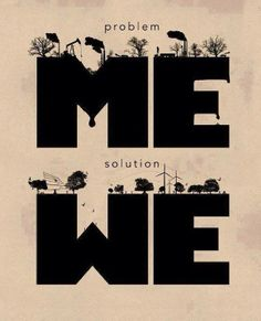 me ☛ we