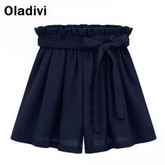 Find More Shorts Information about Elastic Waist Casual Fashion Bow Chiffon Shorts 2015 Summer Women New Arrival Plus Size Clothing Short Pant Trousers White M8329,High Quality trousers skirt,China trouser hanger Suppliers, Cheap trousers pictures from Oladivi Group - Minabell Fashion Store on Aliexpress.com