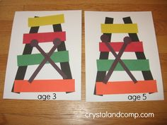 Letter X = Xylophone. We made xylophone crafts, with the drumsticks making an 'X'.