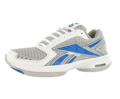 c8d4f78fa6b4a9 Reebok Women s SimplyTone Reestride Walking Shoes Blue White Silver The Reebok  SimplyTone Reestride fitness shoes help tone key leg mu.