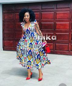 Latest Ndebele Traditional Dresses - Sunika Traditional African Clothes Tsonga Traditional Dresses, Traditional Dresses Designs, Traditional Outfits, African Attire, African Dress, African Clothes, African Outfits, African Style, Types Of Dresses