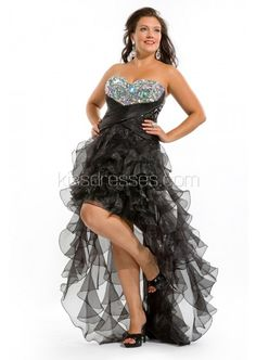 90e5c342787 2013 best sellers Strapless sweetheart beaded bust high low with organza  ruffled skirt prom gown  169.00