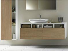 Mobile lavabo sospeso in legno Collezione Durastyle home by DURAVIT Italia | design Matteo Thun  #Napoli #Pozzuoli #Marano #madeinitaly #caiazzocentroceramiche #prezzofelice