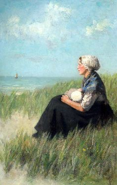 Mother And Child In The Dunes  David Adolf Constant Artz (1837 – 1890, Dutch)
