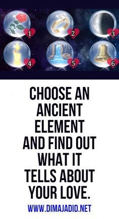 Choose an ancient element and find out what it tells about your love. Psychic Abilities Test, Decir No, Things To Come, Love, Sayings, To Tell, Amor, Personality, El Amor