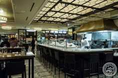 Open kitchen at Todd English Food Hall at the Plaza in NYC, New York