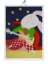 bass player rabbit Bass, Rabbit, Mixed Media, Playing Cards, Illustration, Painting, Painting Art, Bunny, Rabbits