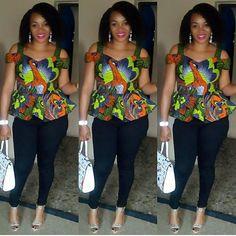 Ankara Peplum Tops for Jeans African Fashion Ankara, Ghanaian Fashion, African Inspired Fashion, Latest African Fashion Dresses, African Print Fashion, Africa Fashion, African Print Dress Designs, African Print Dresses, African Dress