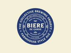 Garde de beer designed by Bryan Cleghorn. Connect with them on Dribbble; Graphic Design Branding, Menu Design, Corporate Design, Logo Branding, Typography Design, Logos, Farm Logo, Beer Brands, Badge Logo