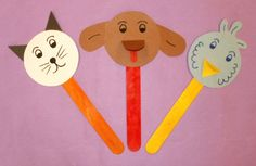 Create a stick puppet of your favorite pet or an Origami animal as you...