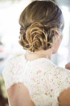 wedding hairstyle; Featured Photographer: Trish Barker Photography