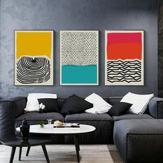 Feb 2020 - Fingerprint Abstract Wall Art Nordic Style Colorful Fine Art Canvas Prints Works Of Art For Office Living Room Modern Home Interior Decor Modern Painting, Modern Art Prints, Wall Art Canvas Painting, Modern Canvas Art, Geometric Wall Art, Modern Wall Art, Abstract Wall Art, Abstract Poster, Pictures To Paint