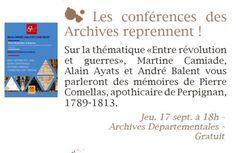 Les conférences des Archives Départementales reprennent