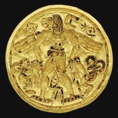 A BACTRIAN GOLD STAMP SEAL CIRCA 2200-1900 B.C.