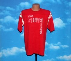 Iowa State University Jersey Tshirt Vintage 1970s - 1980s by nodemo