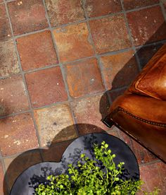 Terracotta floor tile: rustic ANTIQUE DARK ANN SACKS