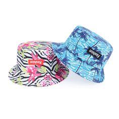 Fashion Tropical Print Bucket Hat for Men Women New Design Floral Flower Hiphop Summer Beach Sun Hats Fisherman Gorras #tropical #beachstyle #fashion #floral #summerstyle #buckethat #sunhat #hiphop #hawaii