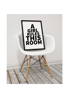 Image of A girl rules this room