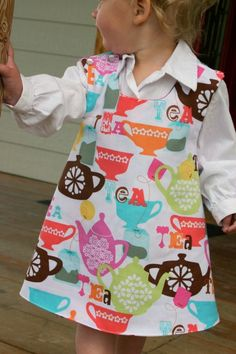 Tea Party Reversible Jumper Dress