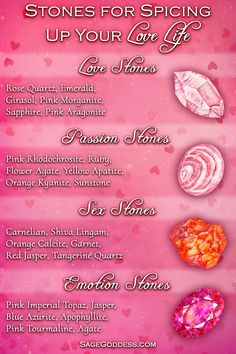 Spice things up and invite feelings of love and passion this Valentine's Day. Here's your guide for all love-related crystals. These are crystals for love, passion, and emotional connection. Crystal Guide, Crystal Magic, Crystal Healing Stones, Stones And Crystals, Quartz Crystal, Minerals And Gemstones, Rocks And Minerals, Crystals Minerals, Tangerine Quartz