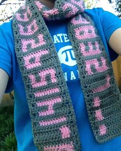 THE ULTIMATE PI DAY SCARF ~ FREE CROCHET PATTERN! Π