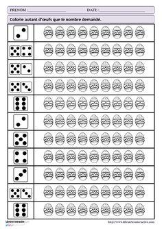 32 fiches d'exercices mathématiques pour la maternelle (PS - MS - GS) autour de la thématique de Pâques. Des exercices de numération, de discrimination visuelles ou encore sur le tableau à double entrée.