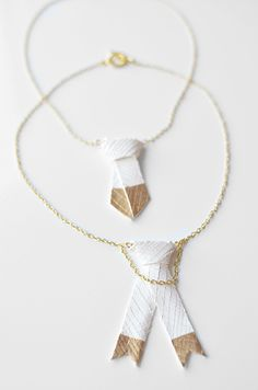 I Still Love You by Melissa Esplin: DIY: Gold and Leather Bolo Necklace