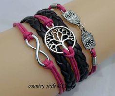 Infinite charm owl bracelet Christmas tree by CountrystyleDIY, $5.99