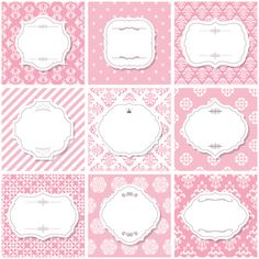 Vector frame with vintage background graphics 03