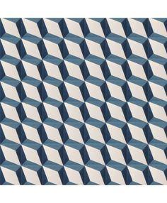 Nadia Blue Encaustic Cement Tiles ¦ Shop Online: http://www.terrazzo-tiles.co.uk/nadia-blue-encaustic-cement-tile.html  #encaustictiles #cementtiles #hydraulictiles #geometric #cube #star #nadia #terrazzotiles @TerrazzoTiles