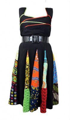 Patch Ankara Dresses by Babe 4 Life.