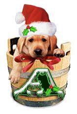 Alfabeto navideño perrito en barril. | Oh my Alfabetos!