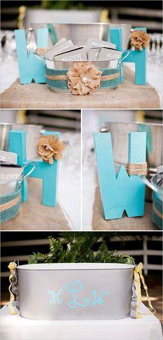 Aqua Wedding Accents for Outdoor Summer Wedding - Light and Bright! Aqua Wedding, Wedding Bells, Diy Wedding, Wedding Colors, Rustic Wedding, Wedding Gifts, Dream Wedding, Wedding Day, Wedding Stuff
