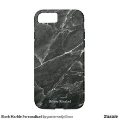 7abe7cb8d65e5 Add your name or a short message to a slab of Black Marble Personalized  iPhone 8