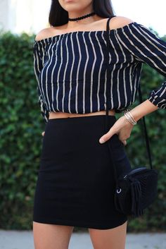 stripes, outfit ideas, off the shoulder, how to, style, street style looks 2016, affordable finds, brandy melville, the grove, vacation, california, beauty, hair, makeup, hairstyles, kurdish, sazan hendrix, sazan, sayran, choker, trend,
