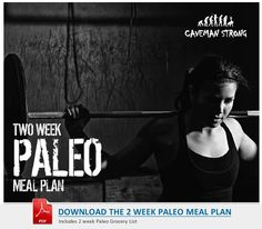 Perfect for newbies or those who are paleo-curious...An easy to follow 2 week meal plan along with a grocery list.  Paleo just got that easy.