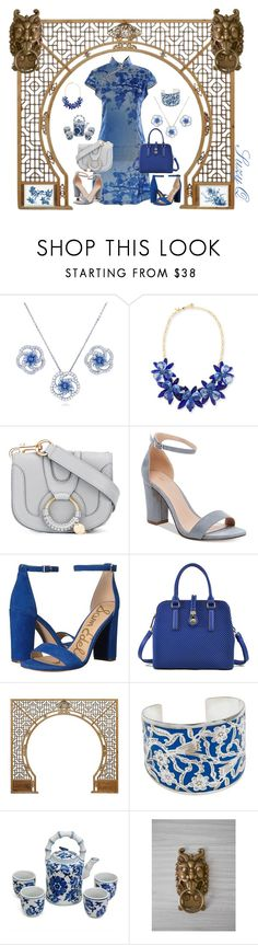 """EAST MEETS WEST"" by suzettestokes ❤ liked on Polyvore featuring BERRICLE, Kate Spade, See by Chloé, Madden Girl, Sam Edelman, Sweet Romance and Ballard Designs"