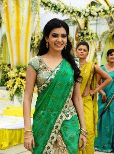 samantha in half saree - Google Search