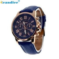 Fabulous hot sale analog quartz faux leather beautiful Roman numeral watch women relogio wrist watches relojes mujer