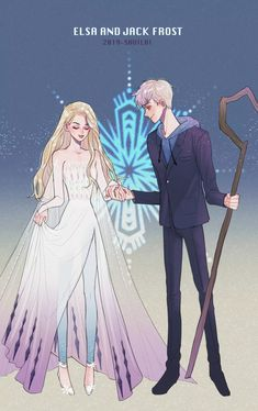 Jack Y Elsa, Jack Frost And Elsa, Disney Princesses And Princes, Disney Princess Frozen, Disney Sketches, Disney Drawings, Elsa Anime, Frozen Wallpaper, Model Sketch