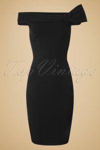 50s Vivian Pencil Dress in Black
