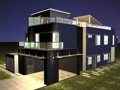 Decoration, Dark Designs Picture Good Exterior Rendering Picture Nice Lighting Picture Good Brown Flooring Picture Nice Blue Wall Picture Designs ~ Make Your Plan To Build Home Based On The Designs Of Virtual House Designer