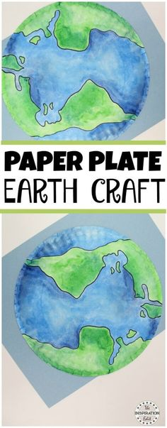 Paper Plate Earth Craft Kids Will Love Preschool Paper plate craft idea which can also be used to teach the value of looking after our planet earth Planets Activities, Earth Day Activities, Activities For Kids, Group Art Projects, Projects For Kids, Crafts For Kids, Craft Kids, Fall Crafts, Earth Craft