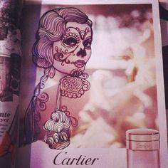 La Calaca Cartier + Ink Doodle + Day of the Dead