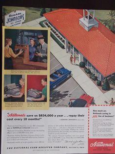 1955 National Cash Register Company Howard Johnson's Advertisement