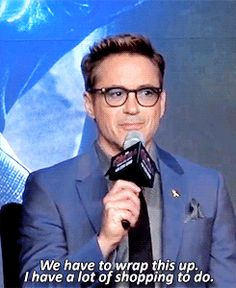 Robert Downey Jr. at the Avengers: Age of Ultron Seoul Press Conference