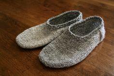 Slippers knitting